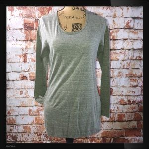 Gray Tunic Top with pockets